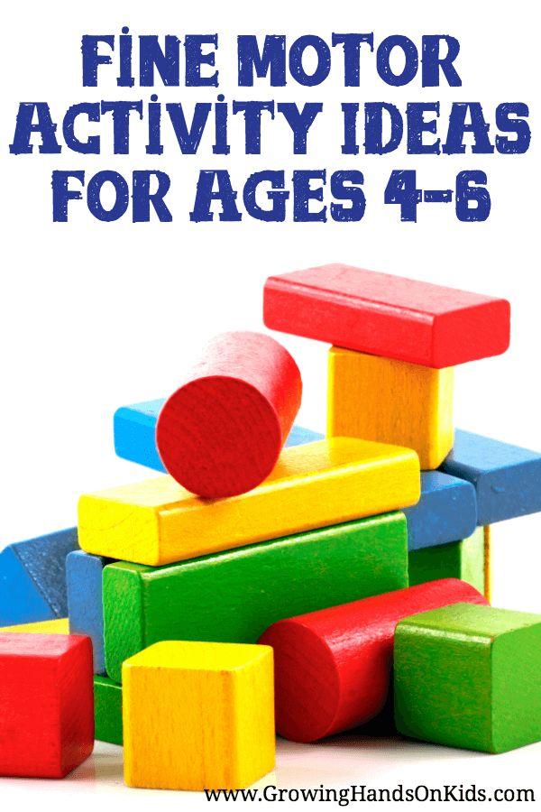 Fine Motor Activities for Preschoolers for Ages 4-6