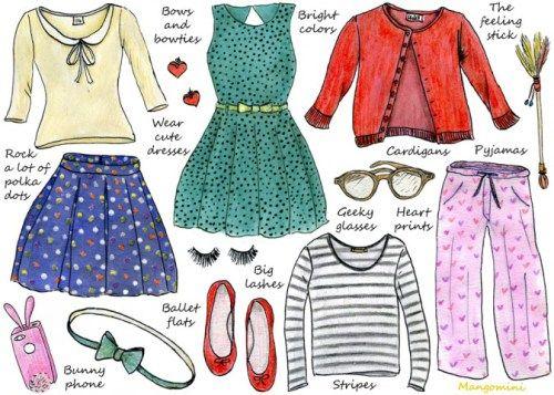 Mangomini for Hello Giggles: How to dress like New Girl's Jess