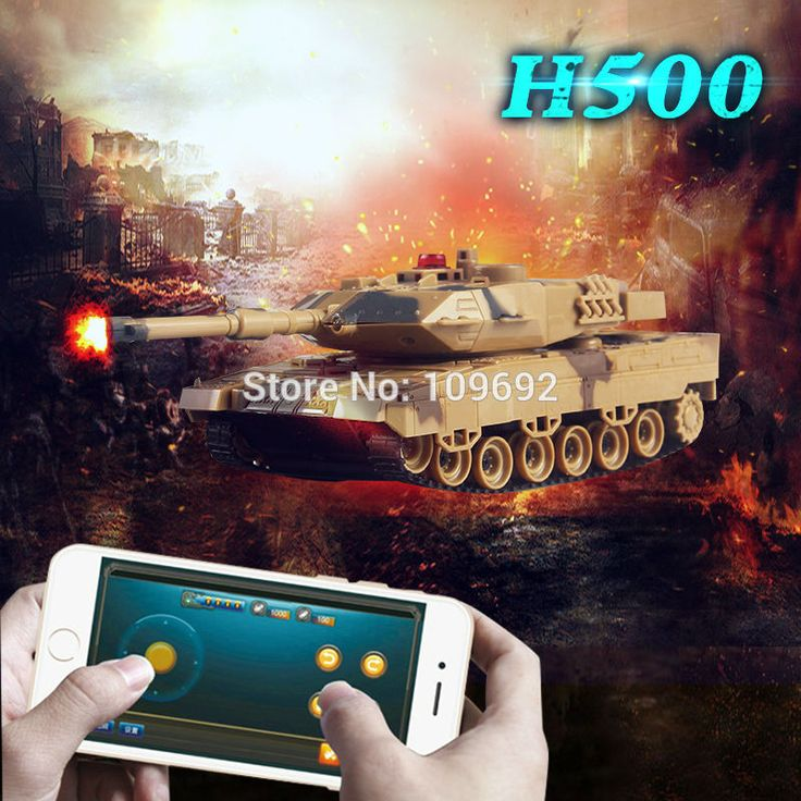 Free Shipping RC Tank H500 Battle Tank Model Toy 1:36 Phone Bluetooth Shooting Gravity Sensor Super Power Remote Control For Boy //Price: $22.93 & FREE Shipping //     #RCQuadcopter