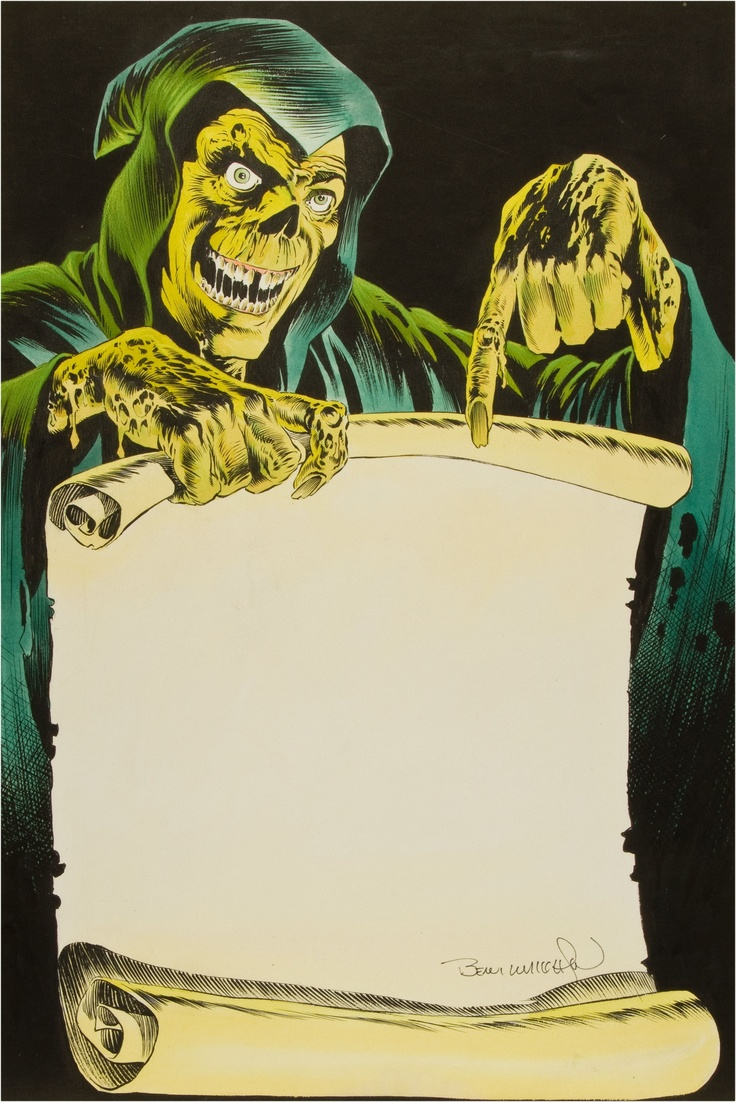 Bernie Wrightson Stephen King's Creepshow Table of Contents Splash Page Colored Illustration Original Art
