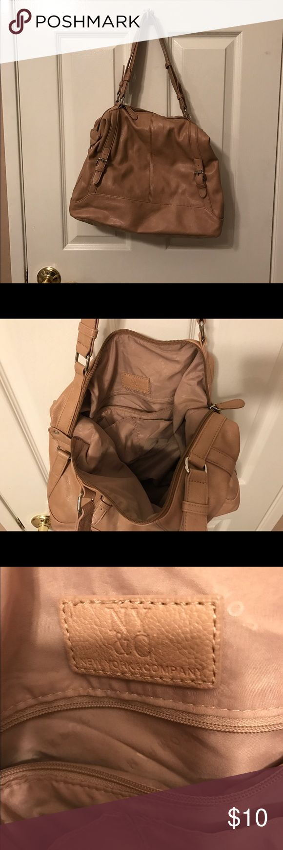 NY&Co beige purse Neutral shoulder bag. Light weight. No tears or skuffs New York and Company Bags Shoulder Bags