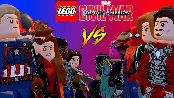 LEGO Guerra Civil | Time Capitão América VS Time Homem de Ferro em Briga...