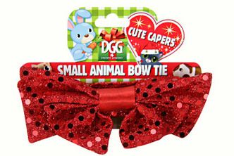 Christmas Red Sequin Bow Tie for Small Animals $4.99