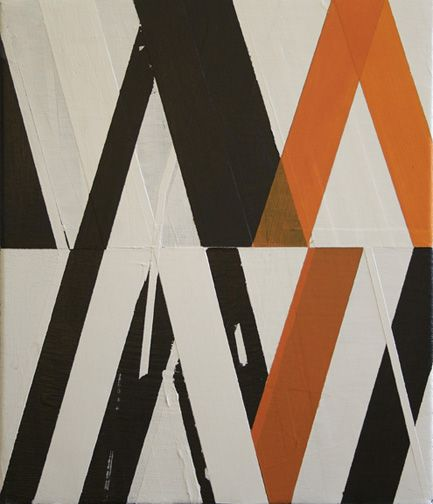 """a-frame, 2009  acrylic on canvas, 15"""" X 13""""   >>a-frame 