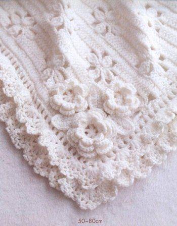 This gorgeous Crochet Baby Blanket has a Free pattern ༺✿ƬⱤღ https://www.pinterest.com/teretegui/✿༻