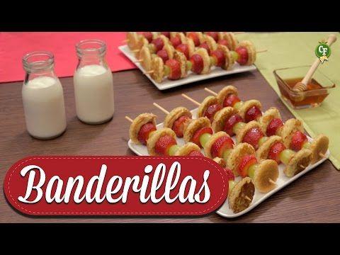 ¿Cómo preparar Banderillas de Mini Hot Cake? - Cocina Fresca - YouTube