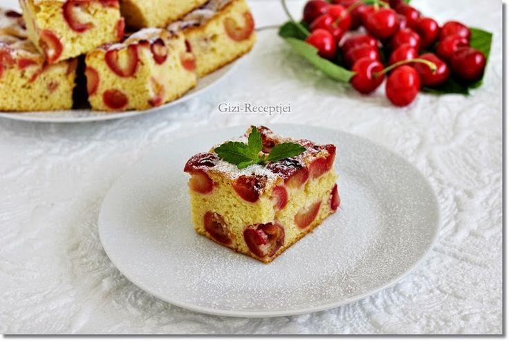 Gizi-receptjei. Várok mindenkit.: Cseresznyés sütemény olajos kevert tésztával.