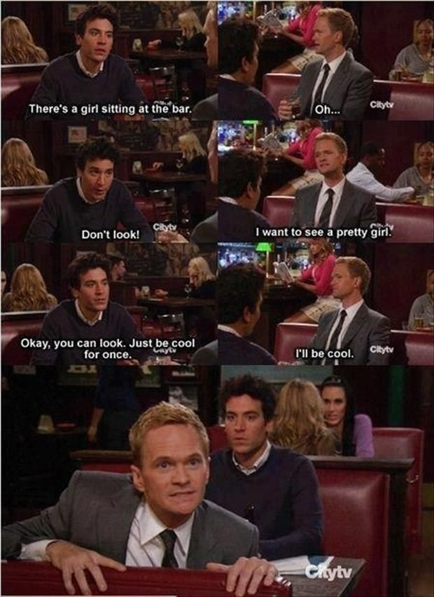 "When Barney was not cool. | 26 ""How I Met Your Mother"" Moments Guaranteed To Make You Laugh Every Time"