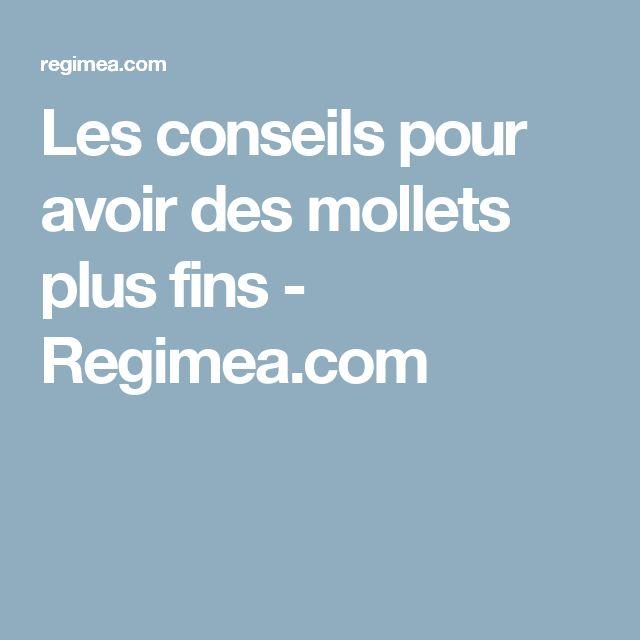 Les conseils pour avoir des mollets plus fins - Regimea.com