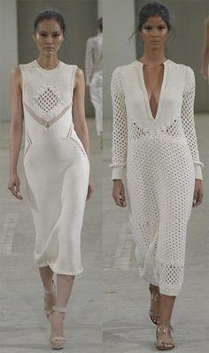 Вязаные платья 2015