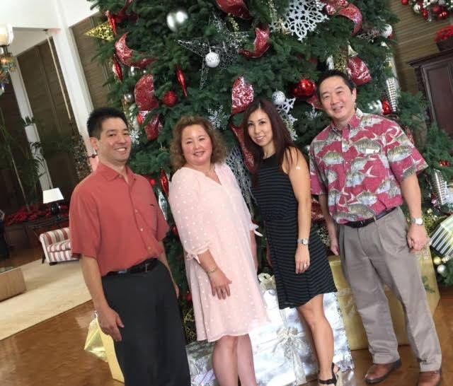 Happy Holidays!   L to R Dr. Jeff Sakai, Melaca Cannella, Dr. Miki Garcia & Guy Sakamoto