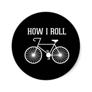 How I Roll Bicycle Stickers- JenHoney Design #cycling #bike #humor