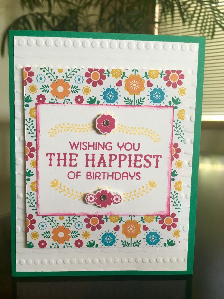 It's a Birthday Fiesta from Stampin' Up! 2016-2017. Love the Festive embossing folder.