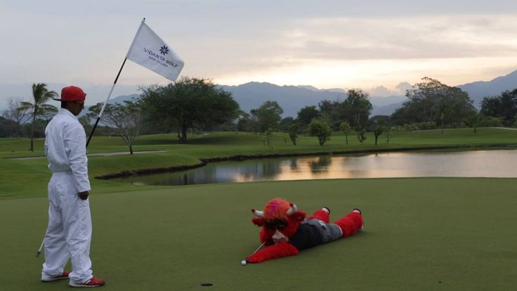 The team hasn't even left for the road trip yet and Benny The Bull is already back in Mexico. Be like Benny - take a vacation.   One lucky Bulls fan will receive a trip for two for a week at the luxurious Grand Mayan at Vidanta, on us!  #Cinemagraph  ENTER HERE: bulls.com/vidantaresortsgetaway