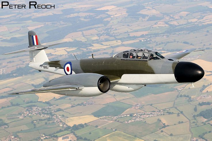 The beautiful Meteor NF11, cruising over the Gloucestershire countryside. The aircraft is operated by the Classic Air Force and is based at Newquay Airport, Cornwall, England ✯ ωнιмѕу ѕαη∂у