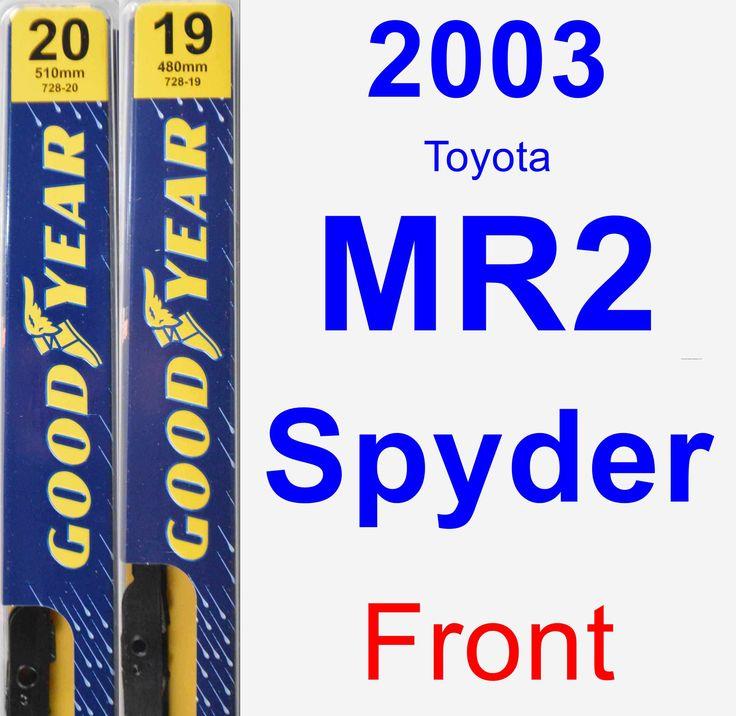 Front Wiper Blade Pack For 2003 Toyota MR2 Spyder