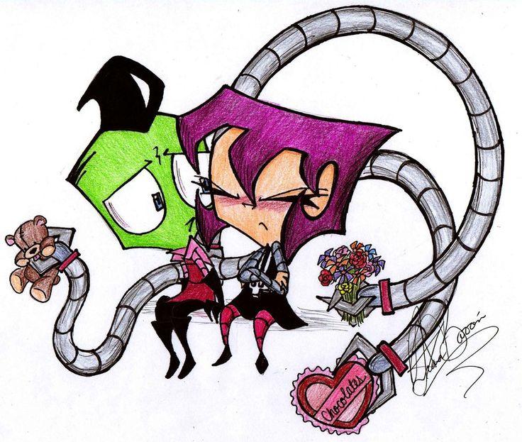 Zim And Gaz Anime Kiss 13 best Cute Couple:Zi...