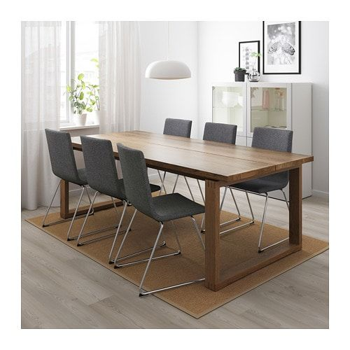 Morbylanga Volfgang Table And 6 Chairs Brown Gunnared Medium Gray Ikea Ikea Dining Table Dining Room Design Dining Room Remodel