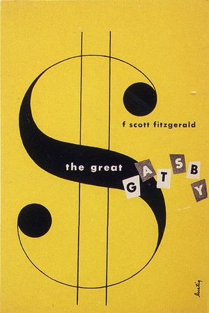 F. Scott Fitzgerald's The Great Gatsby had this simple, geometric book cover designed by American illustrator Alvin Lustig.