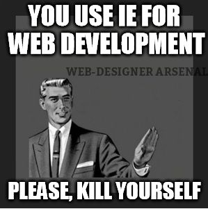 Kill yourself. Do a favor  #webdesignerarsenal #webdesignertrolls