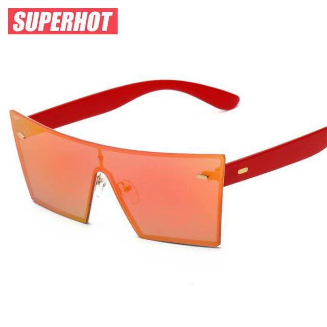 2017 New Плоским топ квадратные солнцезащитные очки мужчин бренд дизайнер цвет покрытия Безрамные солнцезащитные очки женщин tuttolente superstar солнцезащитные очки - Promclothing