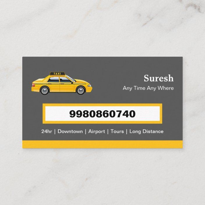 Licensed Cap Driver Chauffeur Yellow Taxi Business Card Zazzle Com In 2021 Business Cards Creative Yellow Taxi Taxi