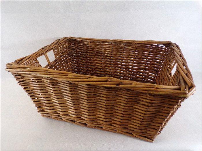 Corbeille panier vintage en osier avec 2 anses de côté vintage france vintagefr déco shabby vintage retro de la boutique decobrock sur Etsy
