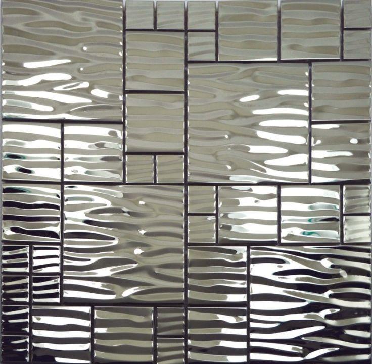 Metallic Fireplace Tiles Backsplash Tile Bathroom
