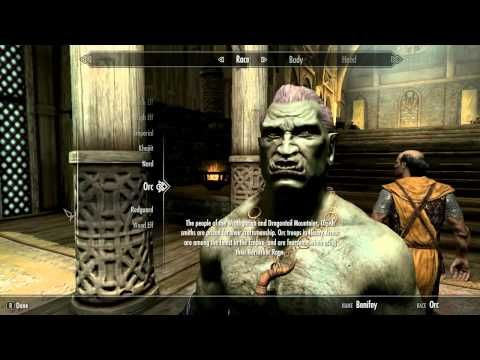 Skyrim (PC)- How to change race without resetting skills - YouTube