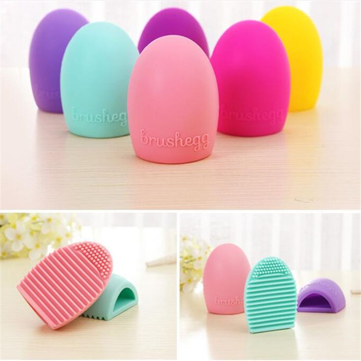 Brushegg Silicone Brush Cleaning Egg Brush egg Cosmetic Brush Cleanser Make up Makeup Brush Cleaner Clean tools