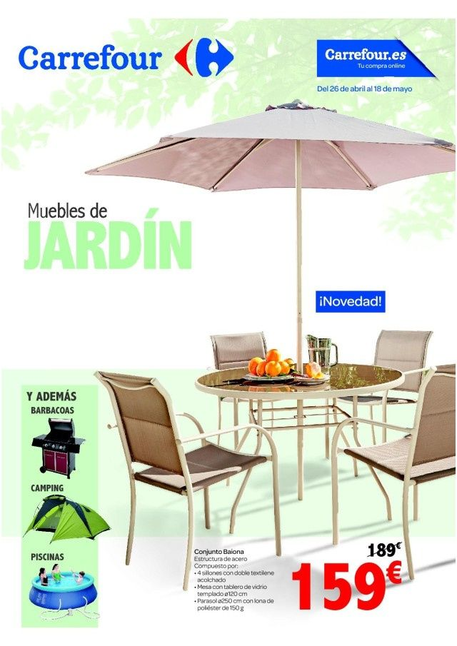Catalogo De Muebles Jardin Carrefour In 2020 Patio Outdoor Outdoor Decor