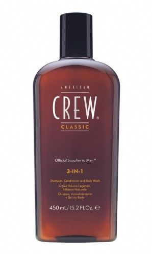 American Crew 3 in 1-literally the only product that works being a 3 in 1. shampoo, conditioner and bodywash all in one.