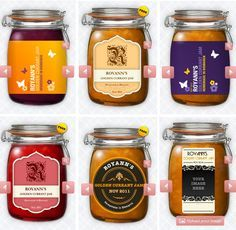 The Jam Labelizer: Design and Print Your Own Jam Labels for Free! imprime tus propios diseños para mermeladas #love