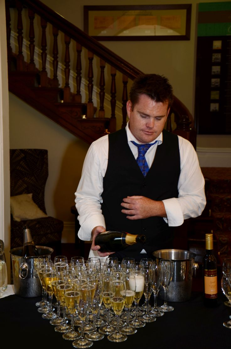 Eden Catering | Mikey behind the bar at a DFS VIP Evening