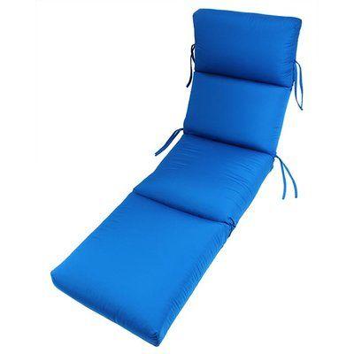 Beachcrest Home Outdoor Sunbrella Chaise Lounge Cushion Fabric: Pacific Blue
