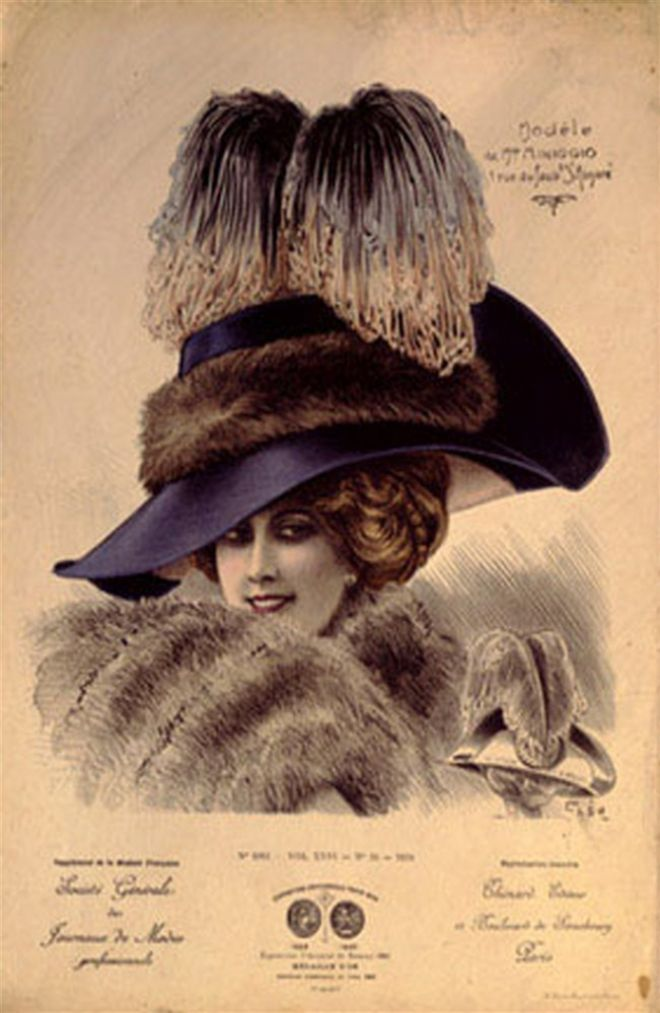 Hats from Expostion Universalle, Paris (1900)
