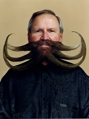 A World Beard & Moustache Champion...that is one special moustache
