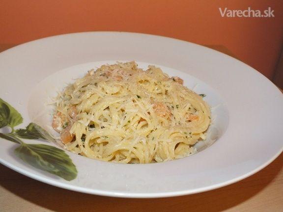 Krémové krevetové špagety