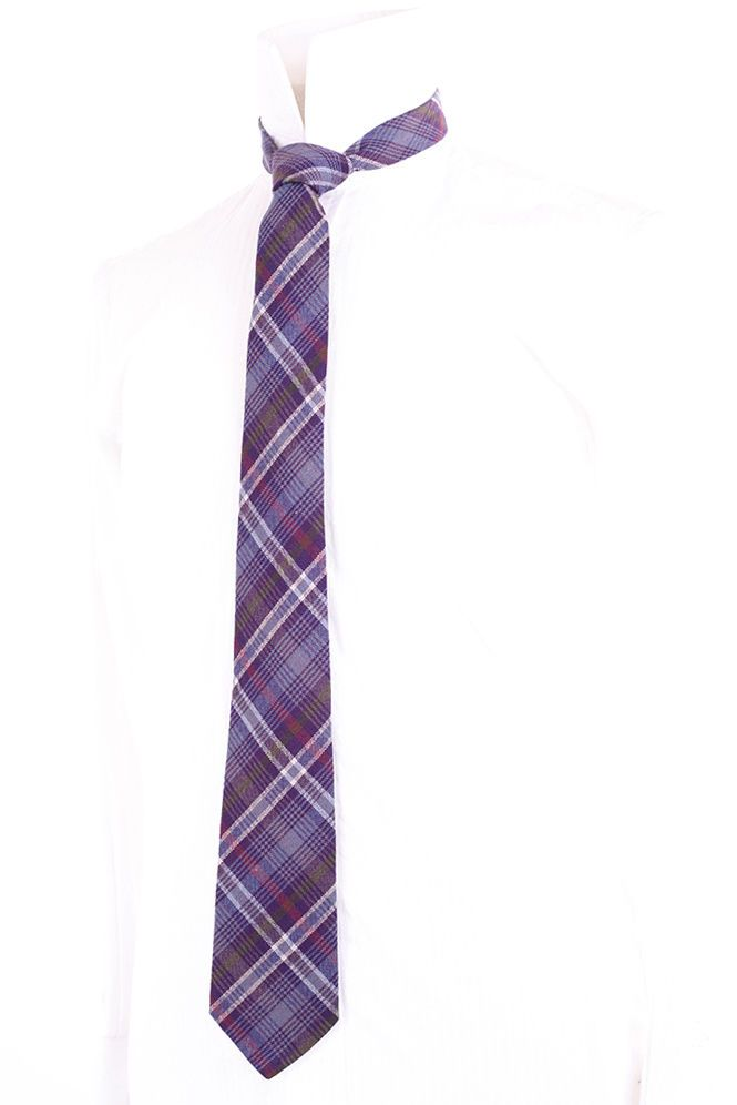 LOCHCARRON CROFTER PURPLE CHECK TWEED MEN'S WOVEN WOOL TIE | eBay