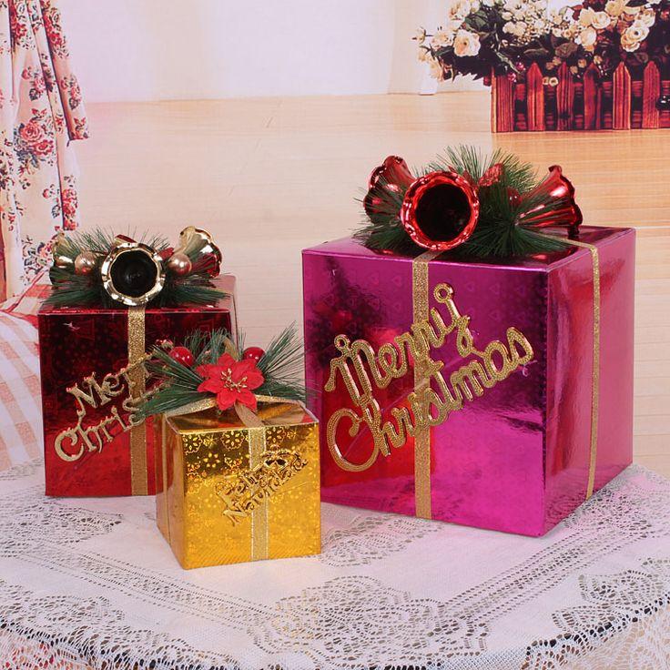 Рождественский подарок коробка рождественские украшения для дома новый год рождественские украшения рождеством украшения