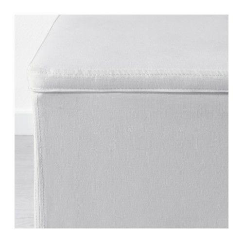 BOSNÄS Ottoman with storage - Ransta white - IKEA