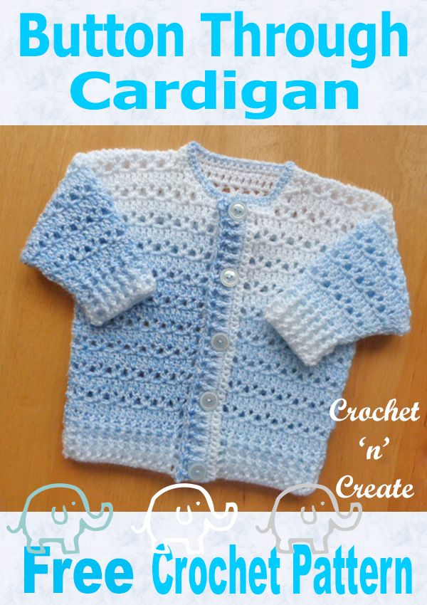 Free Baby Crochet Pattern Button Through Cardigan Blogger Crochet