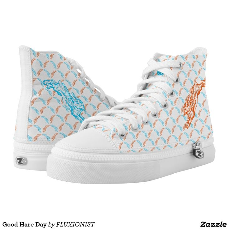 Good Hare Day Printed Shoes - $96.00 Made by Delta Custom / Design: Fluxionist