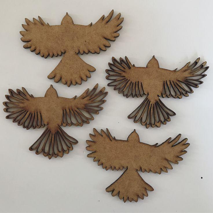 Interiør. Fugle laserskåret i træ. LS illustrationer