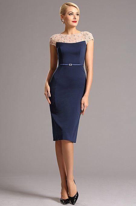 Noblesné krátke spoločenské šaty S01365