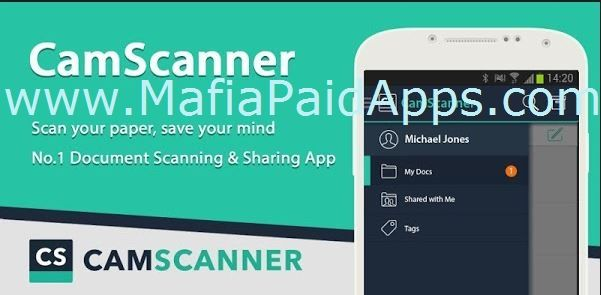 CamScanner Phone PDF Creator FULL v4.0.1.20160714 Apk   Promotion!! Refer friends to CamScanner get free Premium. The worlds No. 1 mobile document scanning and sharing app with over 100 million installs in more than 200 countries and regions.   Over 50000 new registrations per day  CamScanner 50 Best Apps 2013 Edition  TIME  Top Developer  Google Play Store  CamScanner helps you scan store sync and collaborate on various contents across smartphones tablets and computers.  Features: Mobile Scanner Use your phone camera to scan receipts notes invoices whiteboard discussions business cards certificates etc.  Optimize Scan Quality Smart cropping and auto enhancing make the texts and graphics look clear and sharp  Quick Search By entering any keyword youll see a list of docs with the word in their titles notes or images (Registrants only)  Extract Texts from Image OCR (optical character recognition) extracts texts inside single page for further editing or .txt sharing. (Licensed only)  Share PDF/JPEG Files Easily share docs in PDF or JPEG format with others via social media email attachment or sending the doc link  Print & Fax Instantly print out docs in CamScanner with nearby printer; directly fax docs to over 30 countries right from the app  Collaboration Invite friends or colleagues to view and comment on your scans in a group. (Registrants only)  Advanced Editing Making annotations or adding customized watermark on docs are made available for you  Secure Important Docs Set passcode for viewing important docs; meanwhile when sending doc link you can set password to protect it  Sync across Platforms Sign up to sync documents on the go. Just sign in to any smartphone tablet or computer (visit www.camscanner.com) you own and you can view edit and share any document. (Registrants only)  Premium Subscription Features ($ 4.99/month or $49.99/year): 1. Edit OCR results and notes of the entire doc exporting as .txt file 2. Create Doc Collage for multiple pages 3. Add 10G clou