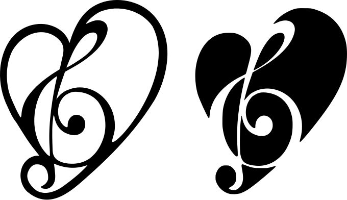 Music Hearts by Kabram Krafts