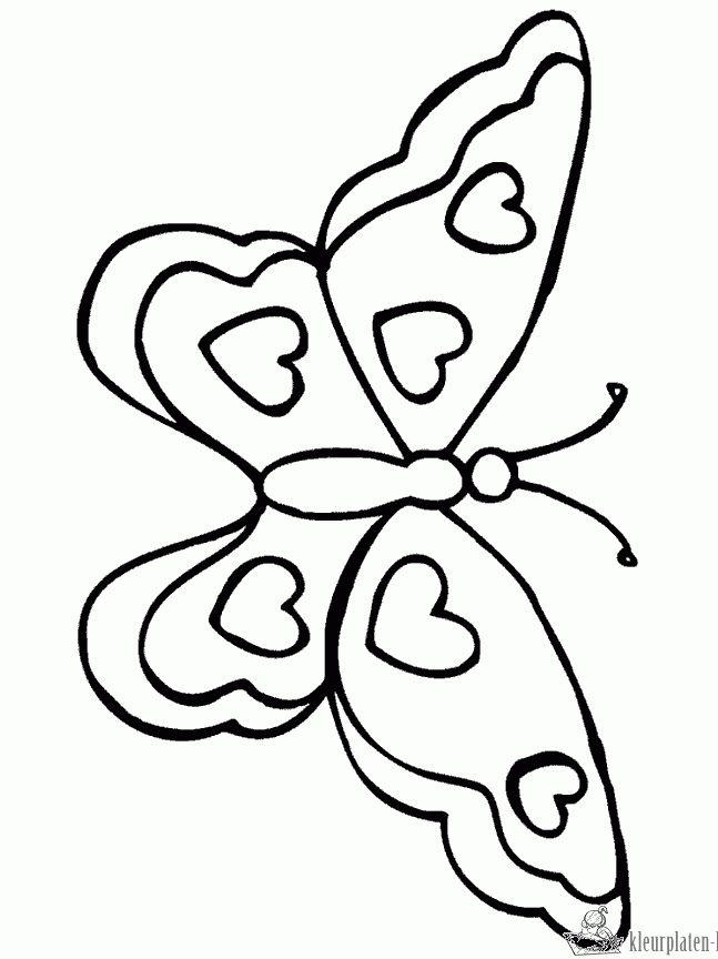 10713-vlinder-kleurplaat.gif 647×864 pixels