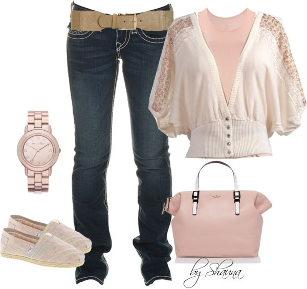 """""""this lovely Mark Jacobs rose watch goes great with this Kate Spade bag"""" by shauna-rogers on Polyvore"""