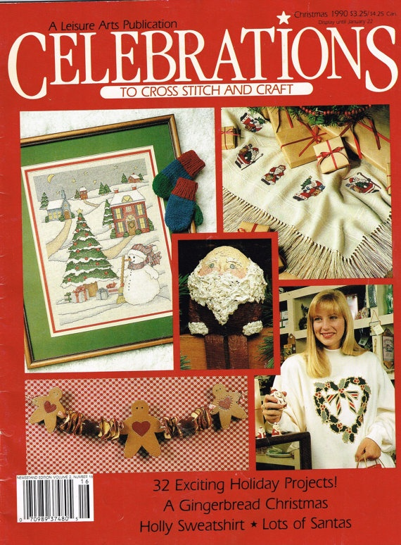 Set of 11 Current and Vintage Cross Stitch and Craft magazines / patterns by NatureAngels, $45.00